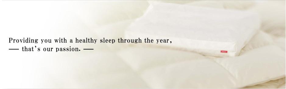 Luxury bedding, down comforters, mattress, Iwata Co., Ltd.